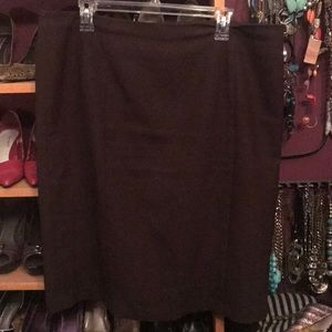 Brown Talbots Pencil Skirt